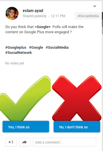 Go to Google+ and share your opinion ;)