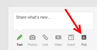 new Google plus poll